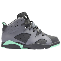 Jordan Retro 6 - Girls' Preschool - Grey / Light Green