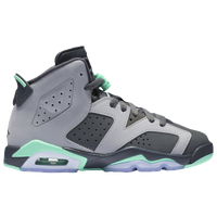 Jordan Retro 6 - Girls' Grade School - Grey / Light Green