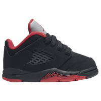 Jordan Retro 5 Low - Boys' Toddler - Black / Red