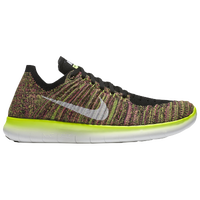 Nike Free RN Flyknit - Women's - Black / Light Green