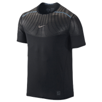 Nike Hypercool Max Metalized Shortsleeve - Men's - Black / Grey