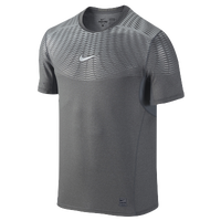 Nike Hypercool Max Metalized Shortsleeve - Men's - Grey / Silver