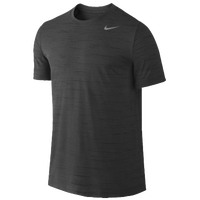 Nike Dri-Fit Training Heathered Short-Sleeve - Men's - Grey / Grey