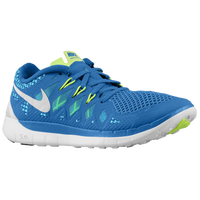 Nike Free 5.0 - Boys' Grade School - Light Blue / Light Green