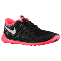 Nike Free 5.0 - Girls' Grade School - Black / Red