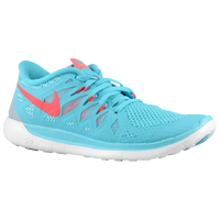 Nike Free 5.0 - Girls' Grade School - Light Blue / Red