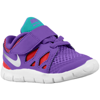 Nike Free 5.0 - Girls' Toddler - Purple / Aqua