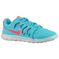 Nike Free 5.0 - Girls' Preschool - Light Blue / Red