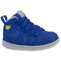 Jordan AJ 1 Mid - Girls' Toddler - Blue / Light Green