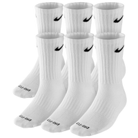 Nike 6 Pack Dri-FIT Crew Socks - White / Black