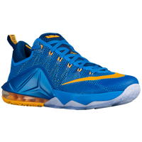 Nike LeBron 12 Low - Boys' Grade School - Blue / Gold