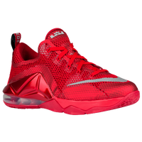 Nike LeBron 12 Low - Boys' Grade School - Red / White