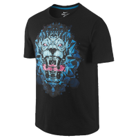 Nike Lebron Lion T-Shirt - Men's -  LeBron James - Black / Light Blue