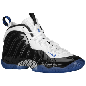Nike Little Posite One - Boys' Grade School - Black/White/Game Royal