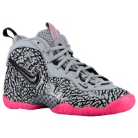 Nike Little Posite Pro - Boys' Grade School - Grey / Black