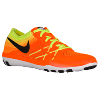 Nike Free TR Focus Flyknit - Women's - Orange / Black