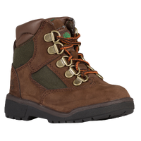 "Timberland 6"" Field Boots - Boys' Toddler - Brown / Olive Green"