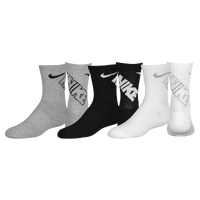 Nike 3 Pack Crew Socks - Boys' Preschool - Grey / White