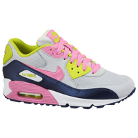Nike Air Max 90 2007 - Girls' Grade School - White / Navy