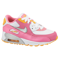 Nike Air Max 90 2007 - Girls' Preschool - White / Pink