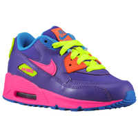 Nike Air Max 90 - Girls' Preschool - Purple / Orange