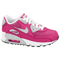 Nike Air Max 90 2007 - Girls' Preschool - Pink / Silver
