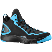 Jordan Super.Fly II PO - Men's - Black / Light Blue