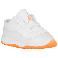 Jordan Retro 11 Low - Girls' Toddler - White / Orange