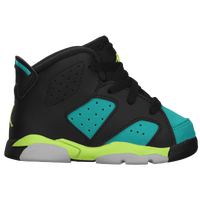 Jordan Retro 6 - Girls' Toddler - Black / Light Green