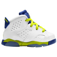 Jordan Retro 6 - Girls' Toddler - White / Light Green