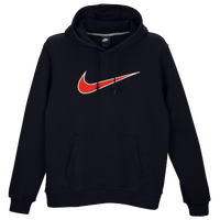 Nike Club Center Swoosh PO Hoodie - Men's - Navy / Red