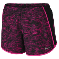 Nike Dri-FIT Set The Pace Shorts - Women's - Pink / Black
