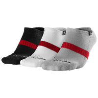 Jordan Dri-FIT No Show 3 Pack Socks - Black / White