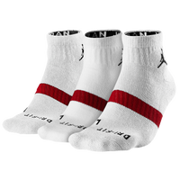 Jordan Dri-FIT Low Quarter 3 Pack Socks - White / Red