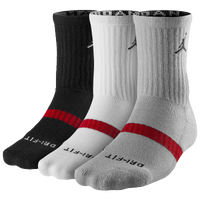 Jordan Dri-Fit Crew Sock 3 Pack - Black / White