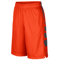 Nike Elite Stripe Shorts - Boys' Grade School - Orange / Grey