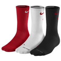 Nike 3 Pack Dri-Fit Fly Crew 1 Sock - Men's - Red / White