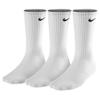 Nike 3 Pack Moisture MGT Cushion Crew Socks - Men's - All White / White