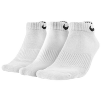 Nike 3 Pack Moisture MGT Cushion Low Cut Socks - Men's - All White / White