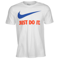 Nike JDI Swoosh T-Shirt - Men's - White / Blue