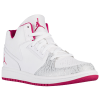 Jordan 1 Flight 3 - Girls' Preschool - White / Silver