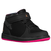 Jordan 1 Flight 3 - Girls' Toddler - Black / Orange
