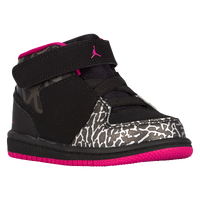 Jordan 1 Flight 3 - Girls' Toddler - Black / Pink