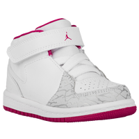 Jordan 1 Flight 3 - Girls' Toddler - White / Silver