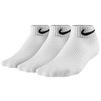 Nike 3 Pack Moisture MGT Cushion Low Cut Sock - Boys' Grade School - All White / White