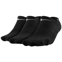 Nike 3 Pack Cotton Cush No Show w/Moisture - Women's - Black / White