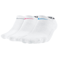 Nike 3 Pack Cotton Cush No Show w/Moisture - Women's - White / Multicolor