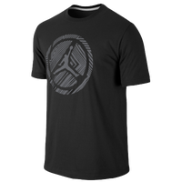 Jordan Lined Wheel T-Shirt - Men's - Black / Grey