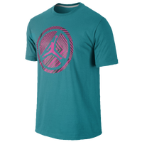 Jordan Lined Wheel T-Shirt - Men's - Aqua / Pink