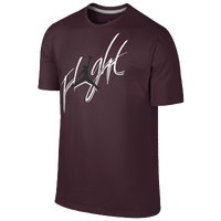 Jordan Branded Flight T-Shirt - Men's - Maroon / White